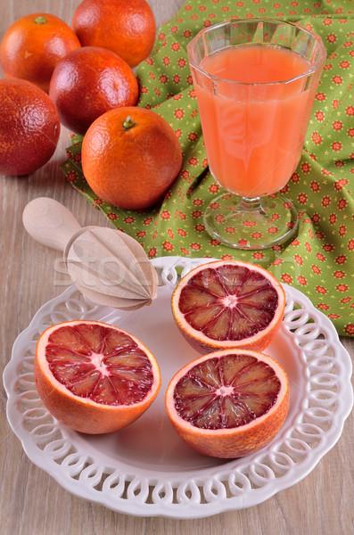 Vermelho laranja cortar comida prato banda Foto stock © zia_shusha