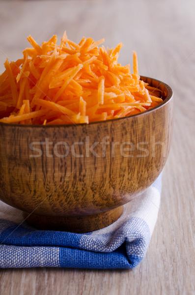 Marchew czerwony żywności charakter kuchnia tabeli Zdjęcia stock © zia_shusha