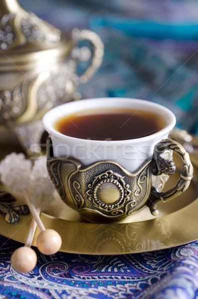 Orientale thé fête traditionnel arabe dates Photo stock © zia_shusha
