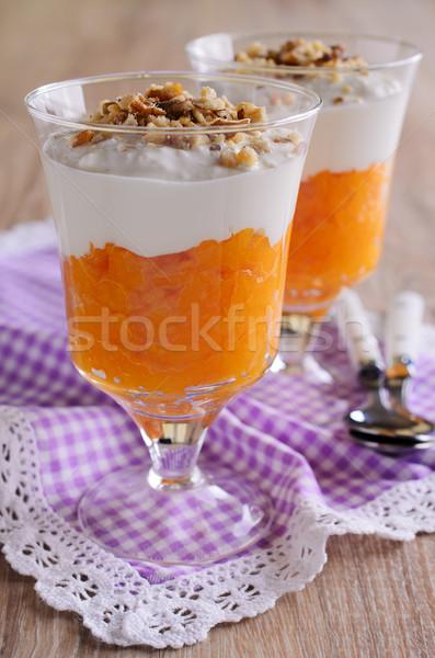 Sobremesa la laranja cor creme nozes Foto stock © zia_shusha