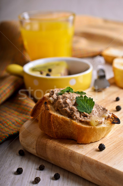 Sandwich with meat pate Stock photo © zia_shusha