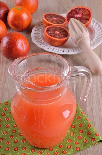 Soku sok pomarańczowy szkła dzban żywności owoców Zdjęcia stock © zia_shusha