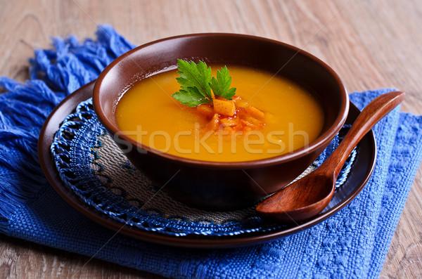 Pumpkin soup Stock photo © zia_shusha