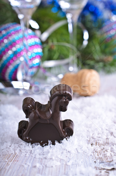 Karácsony csokoládé fürtös cukorka díszítések fa Stock fotó © zia_shusha