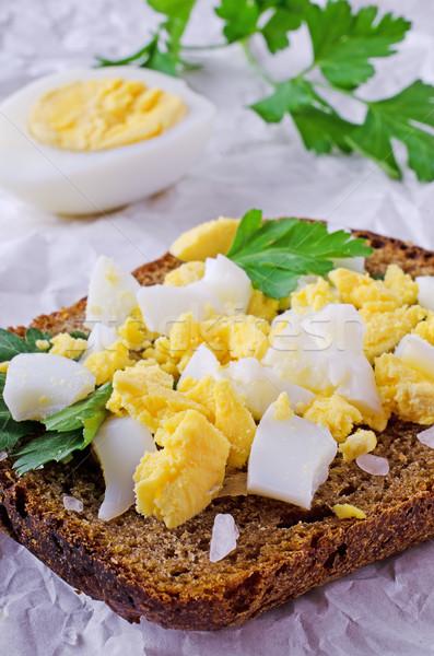 Crumbled boiled eggs  Stock photo © zia_shusha