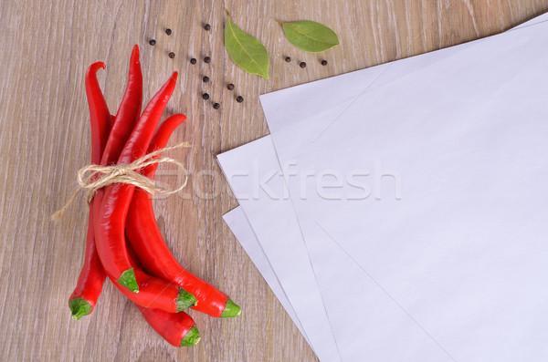 Foto stock: Branco · texto · diferente · legumes · madeira
