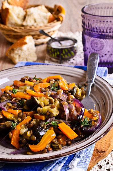 Lentils cooked with vegetables Stock photo © zia_shusha