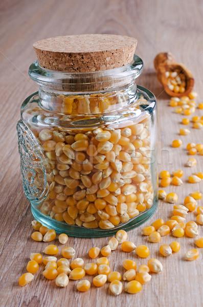 Milho fechado vidro jarra comida cozinhar Foto stock © zia_shusha