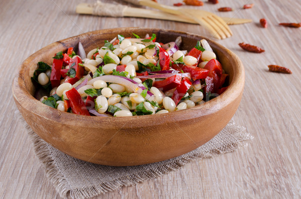 bean salad and various vegetables Stock photo © zia_shusha