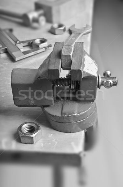 небольшой механический металл гайка другой Сток-фото © zia_shusha