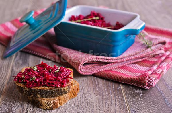 Sandwich with beet Stock photo © zia_shusha