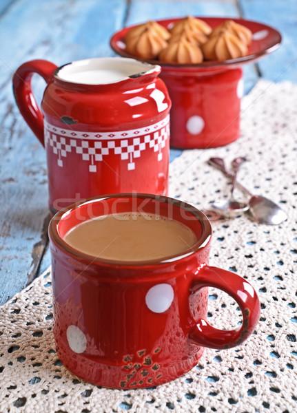 пить коричневый красный старые керамической кружка Сток-фото © zia_shusha