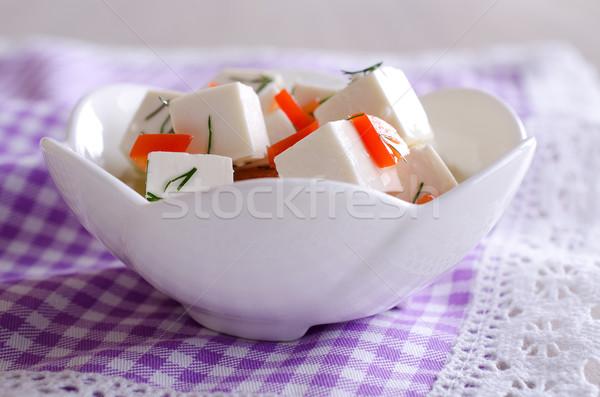 Peynir beyaz yağ sebze meyve cam Stok fotoğraf © zia_shusha