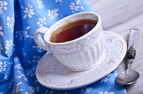 Pić brązowy piękna ceramiczne kubek biały Zdjęcia stock © zia_shusha