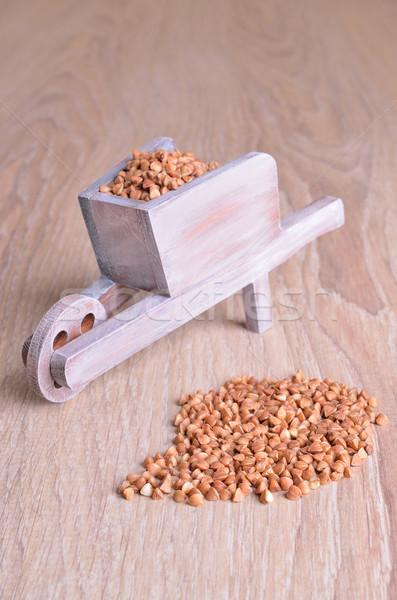 Brut semences bois surface alimentaire maïs Photo stock © zia_shusha