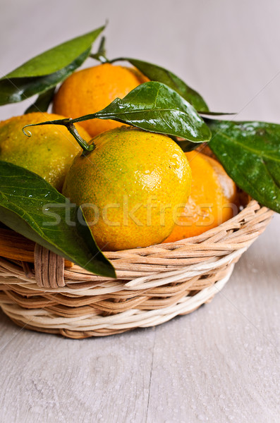 Tangerines with water drops Stock photo © zia_shusha