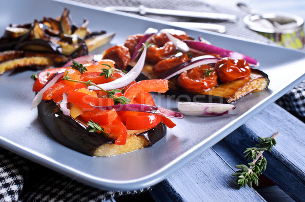 Melanzane verdura metà cena pomodoro Foto d'archivio © zia_shusha