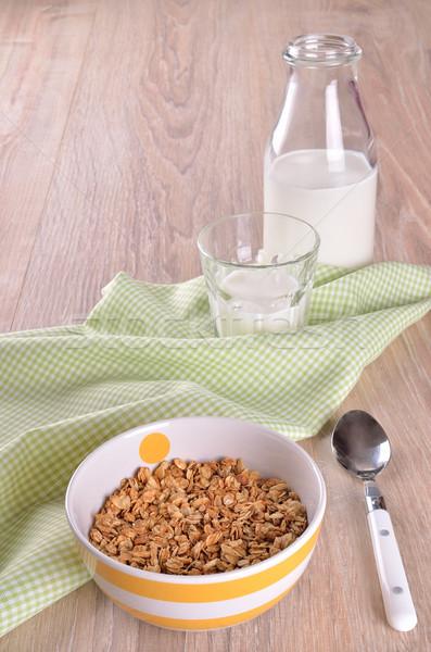 гранола зерновых полосатый пластина поверхность Сток-фото © zia_shusha