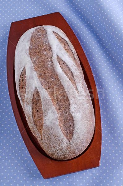 Pão inteiro pão marrom comida madeira Foto stock © zia_shusha