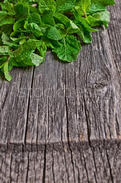 мята зеленый свежие текстуры поверхность Сток-фото © zia_shusha
