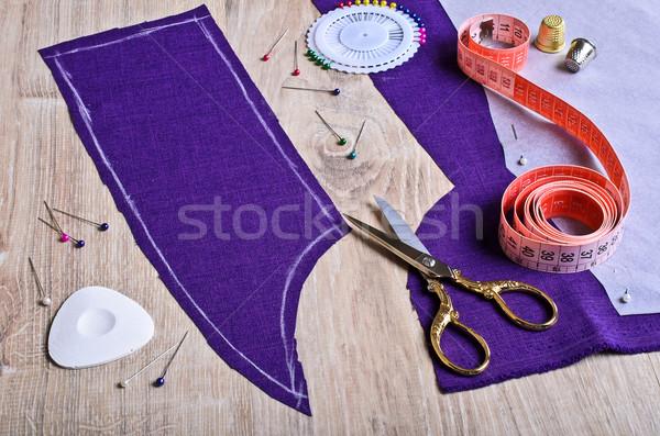 Colheita tecido roxo textura Foto stock © zia_shusha