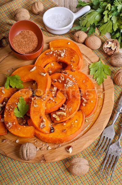 Baked pumpkin slices Stock photo © zia_shusha