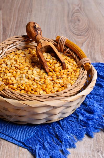Dry yellow peas Stock photo © zia_shusha