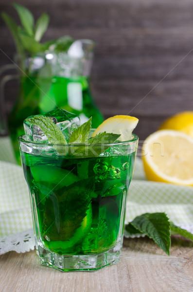 Beber resfriamento verde gelo de Foto stock © zia_shusha