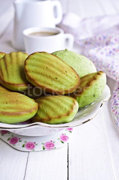 Vert gâteau poudre thé Photo stock © zia_shusha