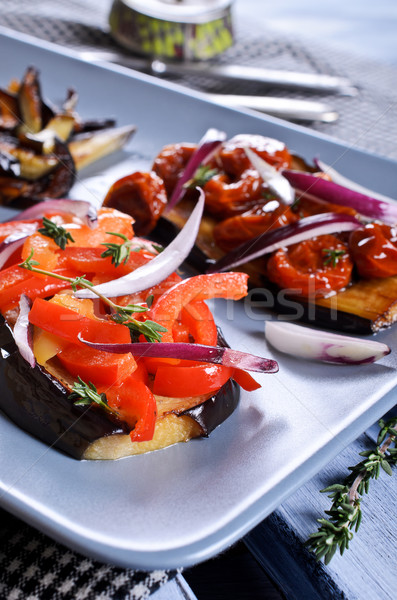 Eggplant with vegetables Stock photo © zia_shusha