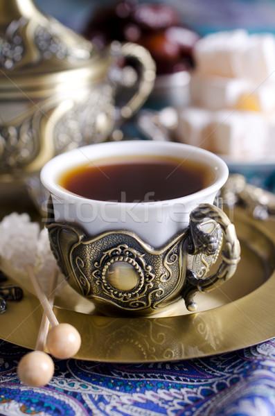 Oriental chá festa tradicional árabe datas Foto stock © zia_shusha
