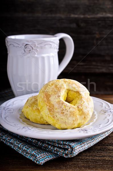 Round glazed cookies Stock photo © zia_shusha