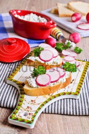 White rice with radish, cucumber and eggs Stock photo © zia_shusha