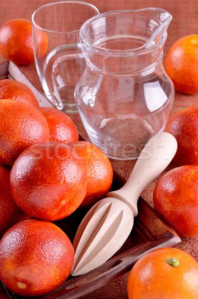 Czerwony pomarańczowy taca inny żywności owoców Zdjęcia stock © zia_shusha