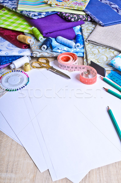 Accessories for the tailor or designer Stock photo © zia_shusha