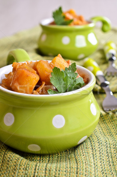 Al vapor vegetales estofado picado col patatas Foto stock © zia_shusha