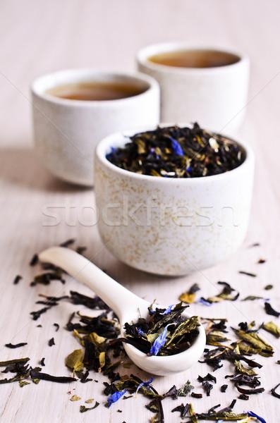 Gemengd drogen thee gedroogd bladeren zwarte Stockfoto © zia_shusha