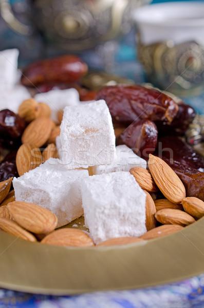 dates, sweets and nuts Stock photo © zia_shusha