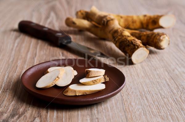 Raifort ensemble bois usine cuisson Photo stock © zia_shusha