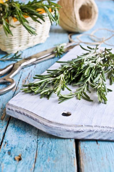 Alecrim fresco verde rústico Foto stock © zia_shusha