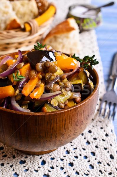 приготовленный овощей баклажан лук продовольствие Сток-фото © zia_shusha
