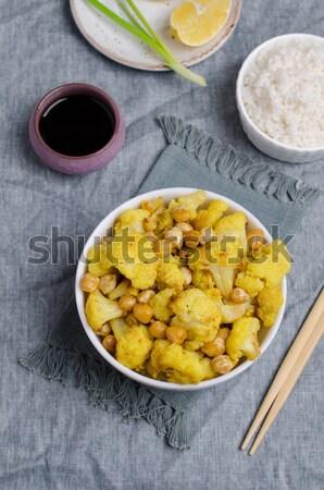 Stock photo: Yellow puree