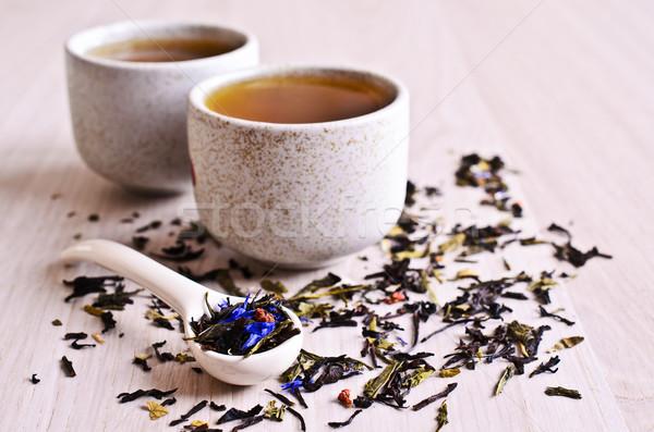 Mixto secar té secado hojas negro Foto stock © zia_shusha