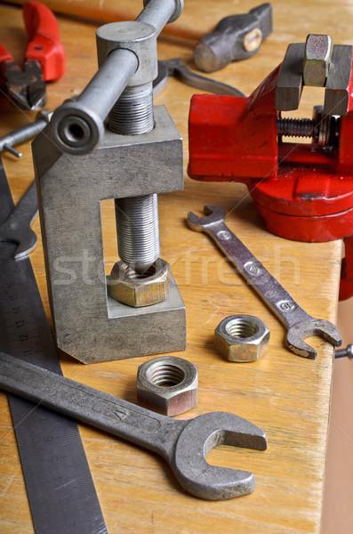Device for threading into the nut Stock photo © zia_shusha