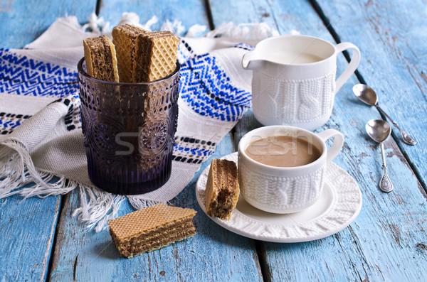 White mug of brown liquid Stock photo © zia_shusha