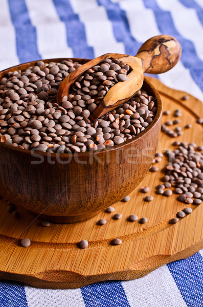 Stock photo: Green lentils