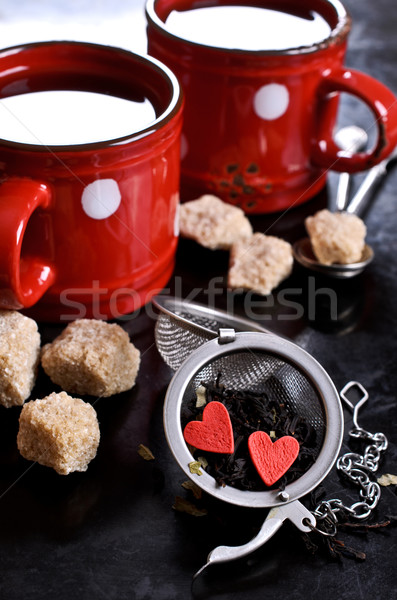 Té dulces forma corazón metal alimentos Foto stock © zia_shusha