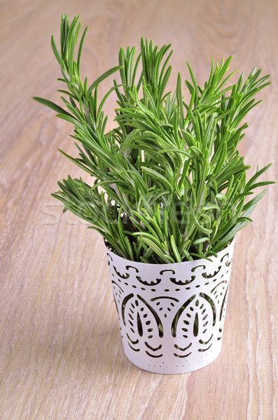 Alecrim muitos verde luxuriante fresco juntos Foto stock © zia_shusha