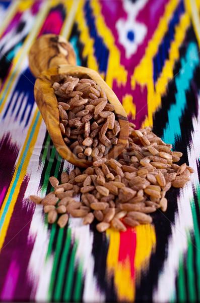 Riz brun grain rouge tasse indian Photo stock © zia_shusha