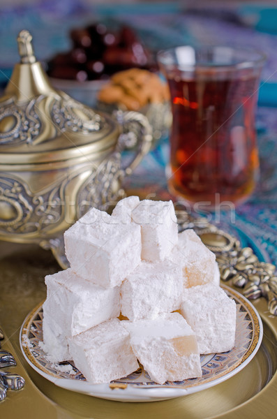 Stok fotoğraf: Türk · zevk · geleneksel · çay · parti · Arapça